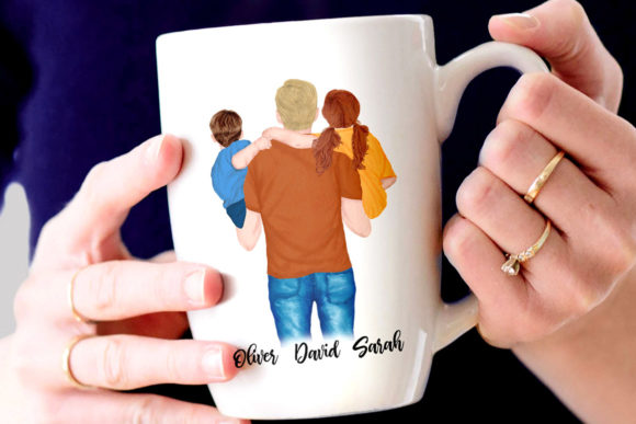 Father and Children Clipart Graphic Illustrations By LeCoqDesign - Image 6