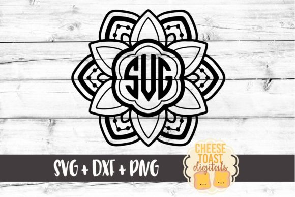 Download Free Floral Mandala Monogram Frame Graphic By Cheesetoastdigitals for Cricut Explore, Silhouette and other cutting machines.