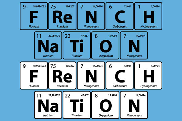 Print on Demand: French Nation Periodic Table Vector Graphic Illustrations By GraphicsFarm