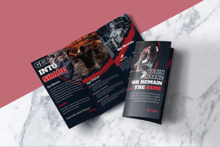 Download Free Gym Fitness Trifold Brochure Design Graphic By Shahariaruix for Cricut Explore, Silhouette and other cutting machines.