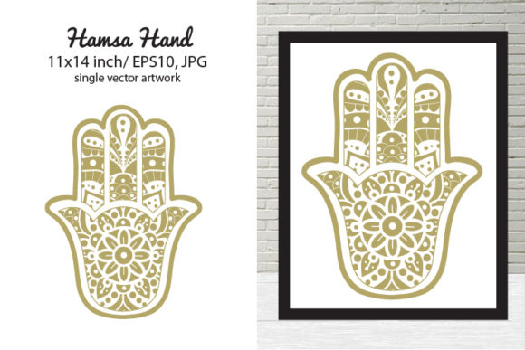 Print on Demand: Hamsa Hand Graphic Illustrations By biljanacvetanovic