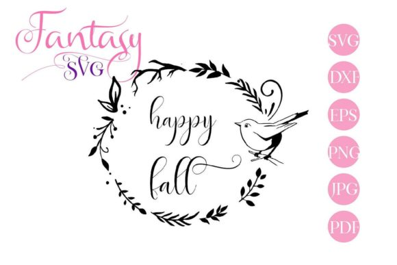 Download Free Happy Fall Cut Files Graphic By Fantasy Svg Creative Fabrica for Cricut Explore, Silhouette and other cutting machines.