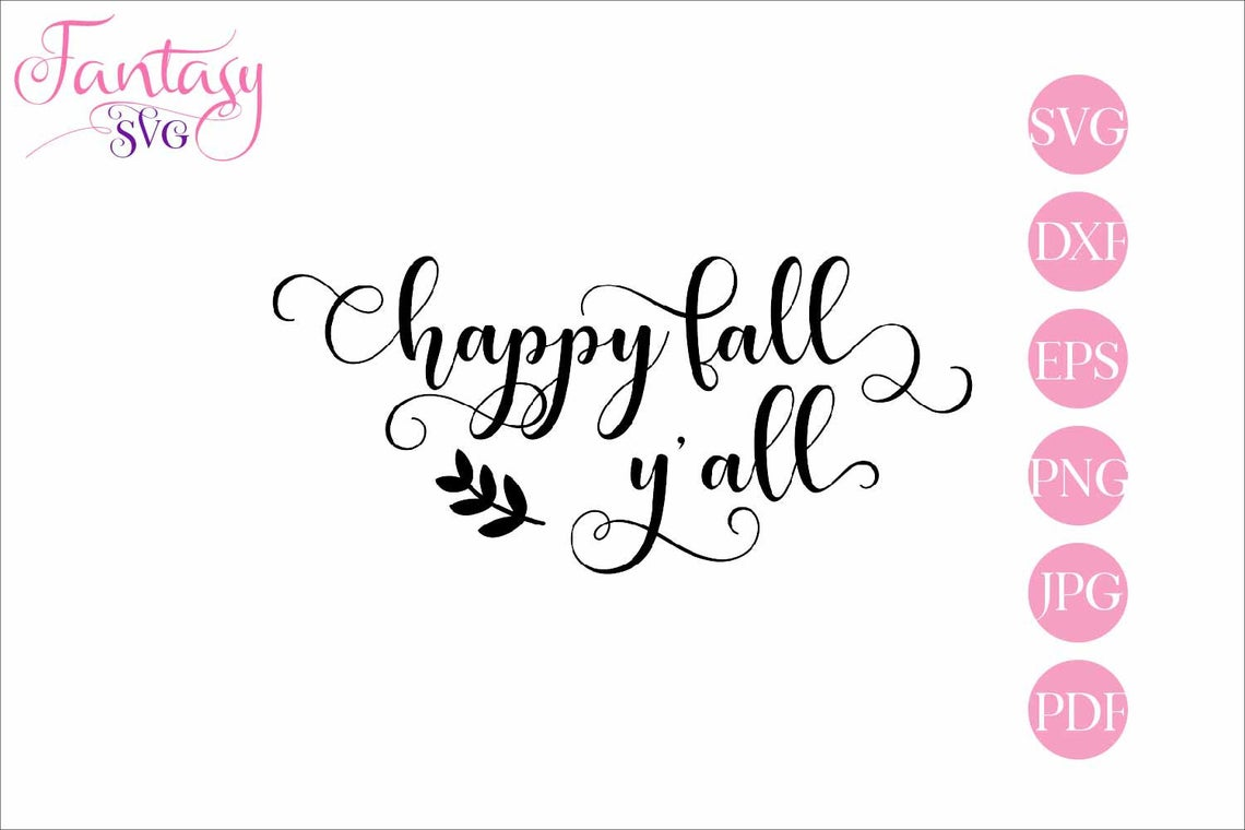 Download Free Happy Fall Yall Svg Cut Files Graphic By Fantasy Svg for Cricut Explore, Silhouette and other cutting machines.