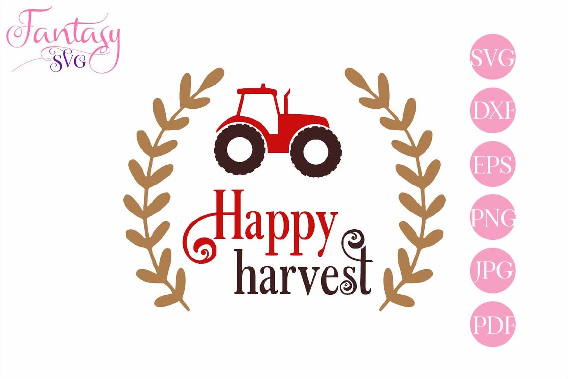 Download Free Happy Harvest Cut Files Graphic By Fantasy Svg Creative Fabrica for Cricut Explore, Silhouette and other cutting machines.