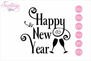 Download Free Happy New Year Svg Cut Files Graphic By Fantasy Svg Creative Fabrica for Cricut Explore, Silhouette and other cutting machines.