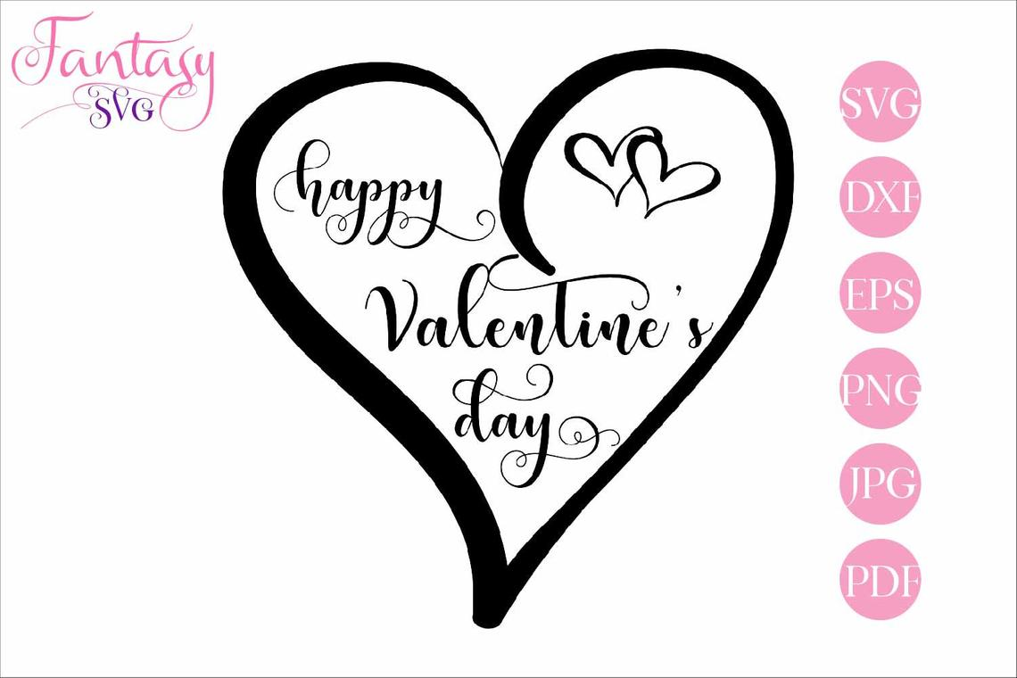 Download Free Happy Valentines Day Svg Cut Files Graphic By Fantasy Svg for Cricut Explore, Silhouette and other cutting machines.
