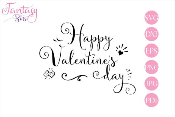 Download Free Happy Valentines Day Cut Files Graphic By Fantasy Svg Creative Fabrica PSD Mockup Template