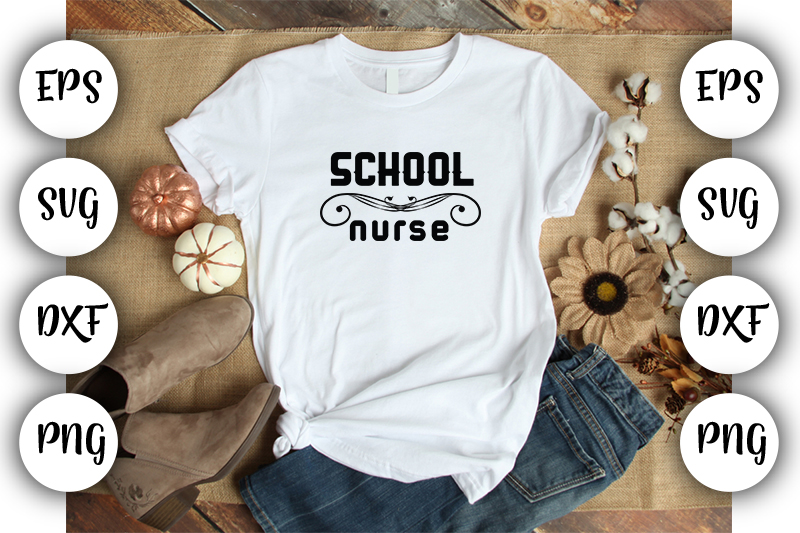 Download Free I School Nurse Graphic By Design Store Creative Fabrica for Cricut Explore, Silhouette and other cutting machines.