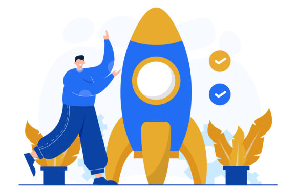 Illustration of Business Startup Graphic Illustrations By OKEVECTOR