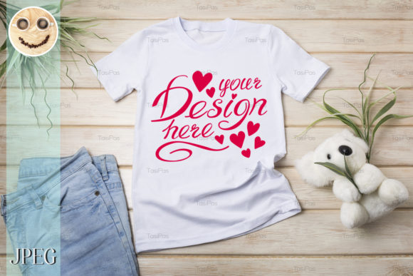 Download Free Women S T Shirt Mockup With Summer Hat Graphic By Tasipas for Cricut Explore, Silhouette and other cutting machines.