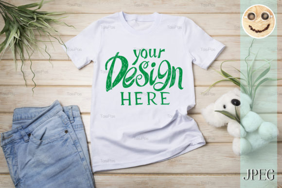 Download Free Kids T Shirt Mockup With Koala Bear Toy Graphic By Tasipas for Cricut Explore, Silhouette and other cutting machines.