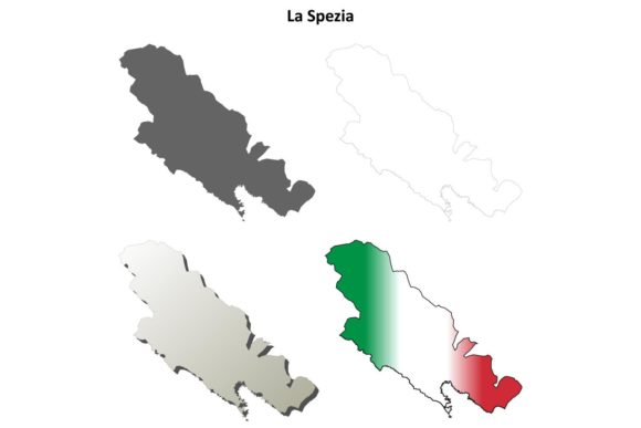 Download Free La Spezia Outline Map Set Graphic By Davidzydd Creative Fabrica for Cricut Explore, Silhouette and other cutting machines.