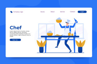 Download Free Landing Page Chef Graphic By Okevector Creative Fabrica for Cricut Explore, Silhouette and other cutting machines.
