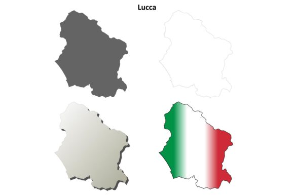 Download Free Lucca Outline Map Set Graphic By Davidzydd Creative Fabrica for Cricut Explore, Silhouette and other cutting machines.