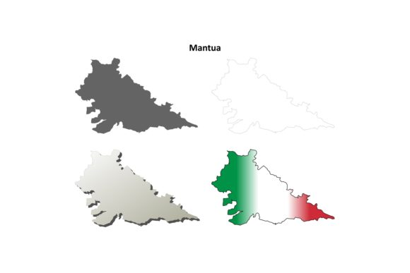 Download Free Mantua Outline Map Set Graphic By Davidzydd Creative Fabrica for Cricut Explore, Silhouette and other cutting machines.