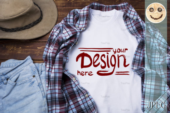 Print on Demand: Mens T-shirt Mockup  Graphic Product Mockups By TasiPas