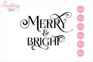 Download Free Merry Bright Cut Files Graphic By Fantasy Svg Creative Fabrica SVG Cut Files