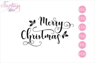 Download Free Merry Christmas Cut Files Graphic By Fantasy Svg Creative for Cricut Explore, Silhouette and other cutting machines.