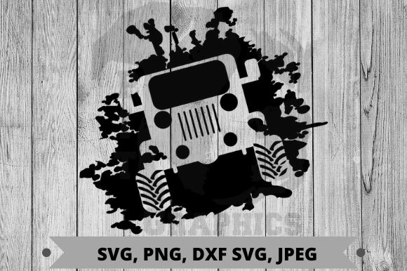 Download Free Muddy Jeep 4x4 Graphic By Pit Graphics Creative Fabrica for Cricut Explore, Silhouette and other cutting machines.