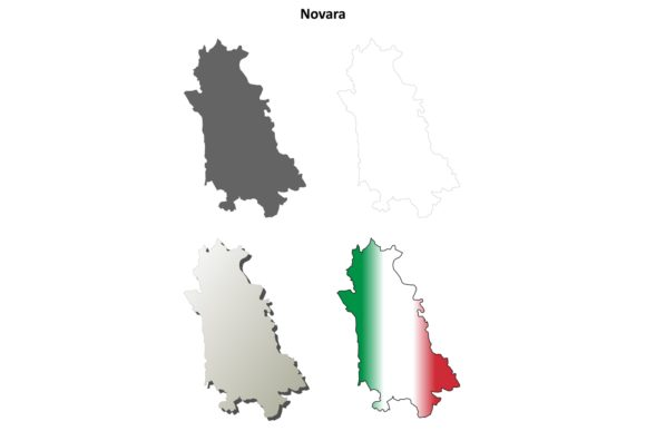 Download Free Novara Outline Map Set Graphic By Davidzydd Creative Fabrica for Cricut Explore, Silhouette and other cutting machines.