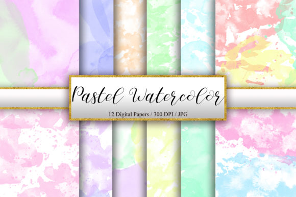 Pastel Watercolor Texture Background Graphic Backgrounds By PinkPearly