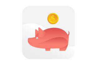 Download Free Piggy Bank Saving Money Dollar Coin Icon Graphic By Samagata for Cricut Explore, Silhouette and other cutting machines.