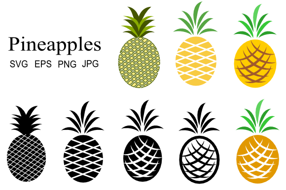 Print on Demand: Pineapple Graphics Graphic Icons By artbyliz