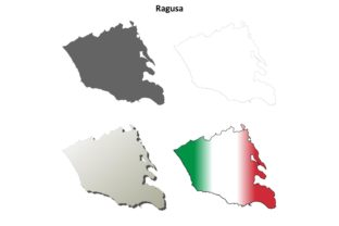 Download Free Ragusa Outline Map Set Graphic By Davidzydd Creative Fabrica for Cricut Explore, Silhouette and other cutting machines.