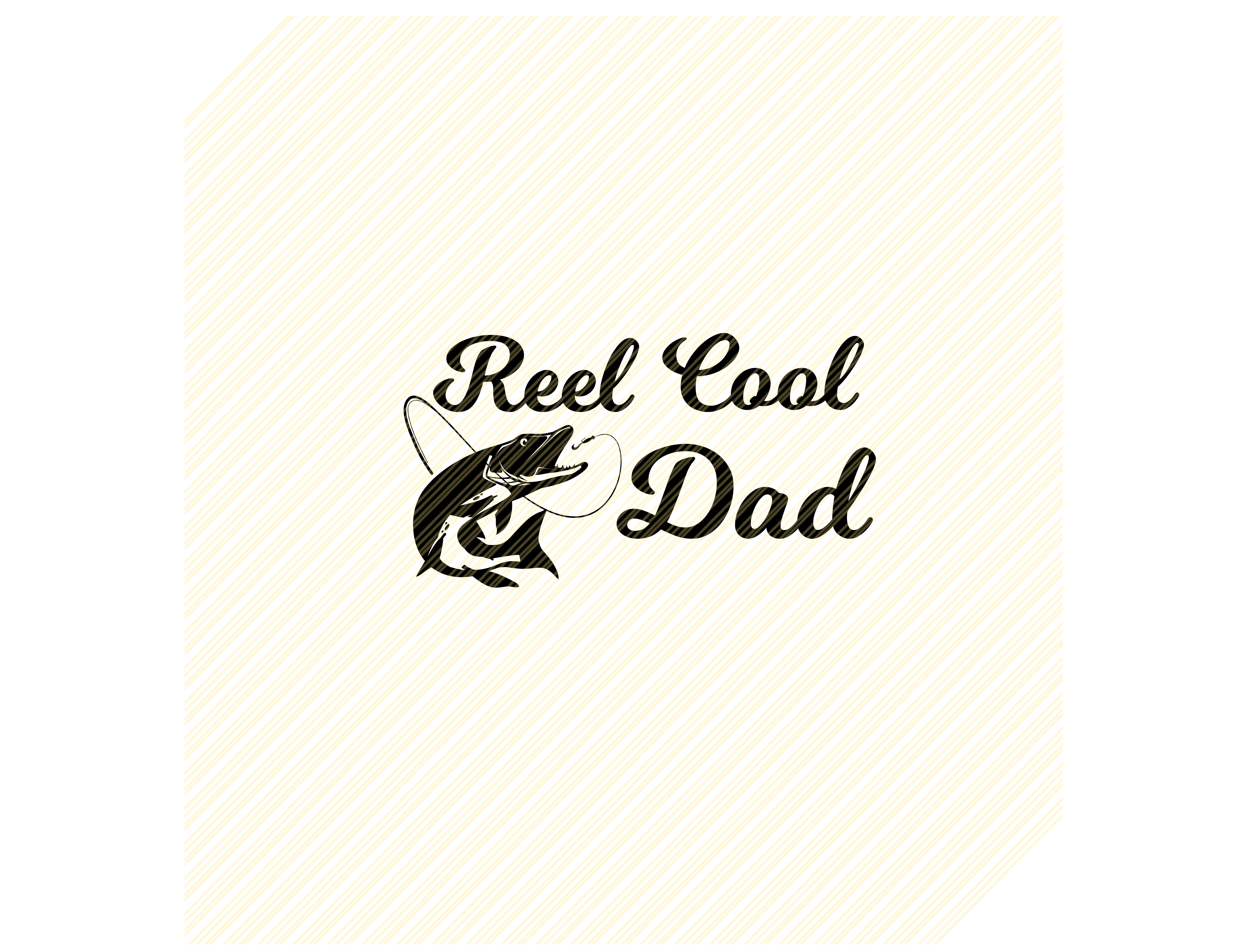 Download Free Reel Cool Dad Fishing Graphic Graphic By Svgplacedesign for Cricut Explore, Silhouette and other cutting machines.