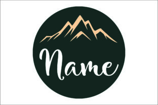 Download Free Round Name Sign Cut Files Graphic By Bn3300877 Creative Fabrica for Cricut Explore, Silhouette and other cutting machines.