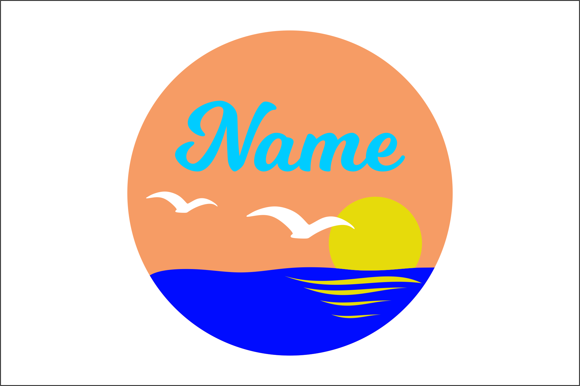 Download Free Round Name Sign Svg Dxf Cut Files Graphic By Bn3300877 for Cricut Explore, Silhouette and other cutting machines.