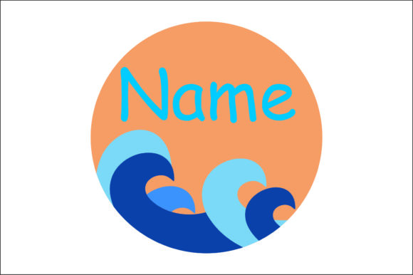Round Name Sign Cut Files Graphic By Bn3300877 Creative Fabrica