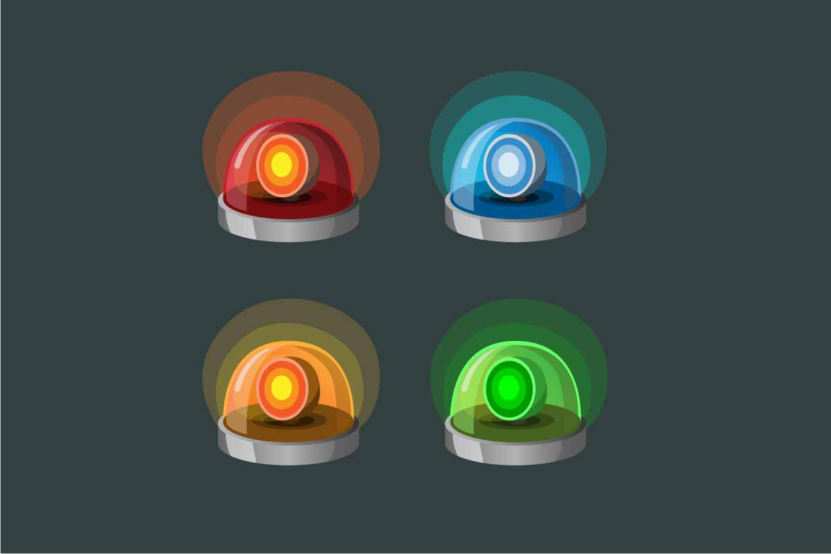 Download Free Siren Lamp Collection Icon Set 4 Color Graphic By Aryo Hadi SVG Cut Files
