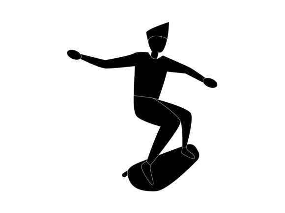 Download Free Skateboard Extreme Sport Silhouette Icon Graphic By for Cricut Explore, Silhouette and other cutting machines.