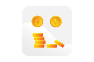 Download Free Stack Of Dollar Coins Icon Graphic By Samagata Creative Fabrica for Cricut Explore, Silhouette and other cutting machines.