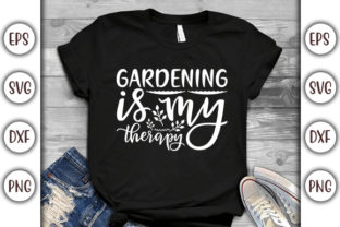 Print on Demand: Summer Design, Gardening is My Therapy Graphic Print Templates By GraphicsBooth