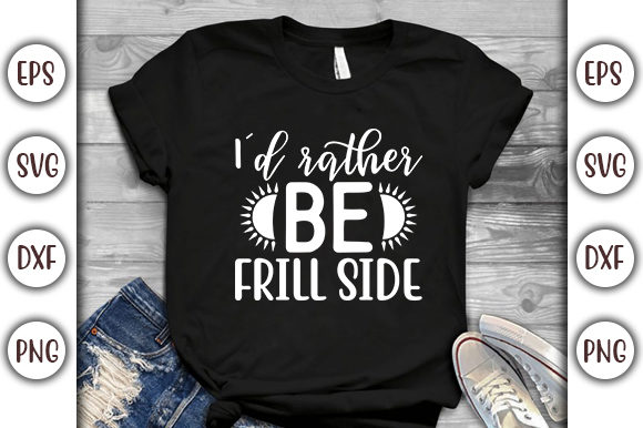 Download Free Summer Design I D Rather Be Frill Side Graphic By Graphicsbooth for Cricut Explore, Silhouette and other cutting machines.