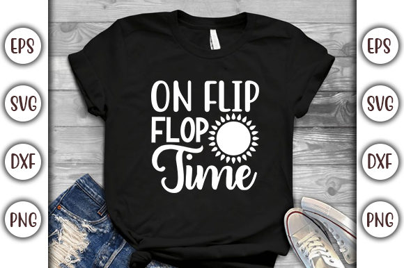 Print on Demand: Summer Design, on Flip Flop Time Graphic Print Templates By GraphicsBooth