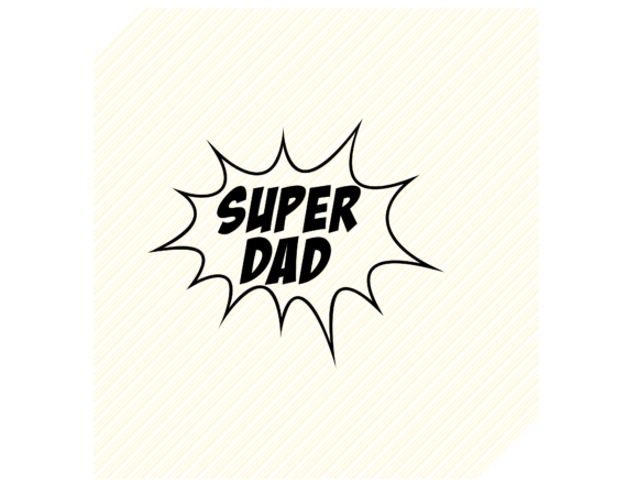 Download Free Superdad Dad Graphic Graphic By Svgplacedesign Creative Fabrica for Cricut Explore, Silhouette and other cutting machines.