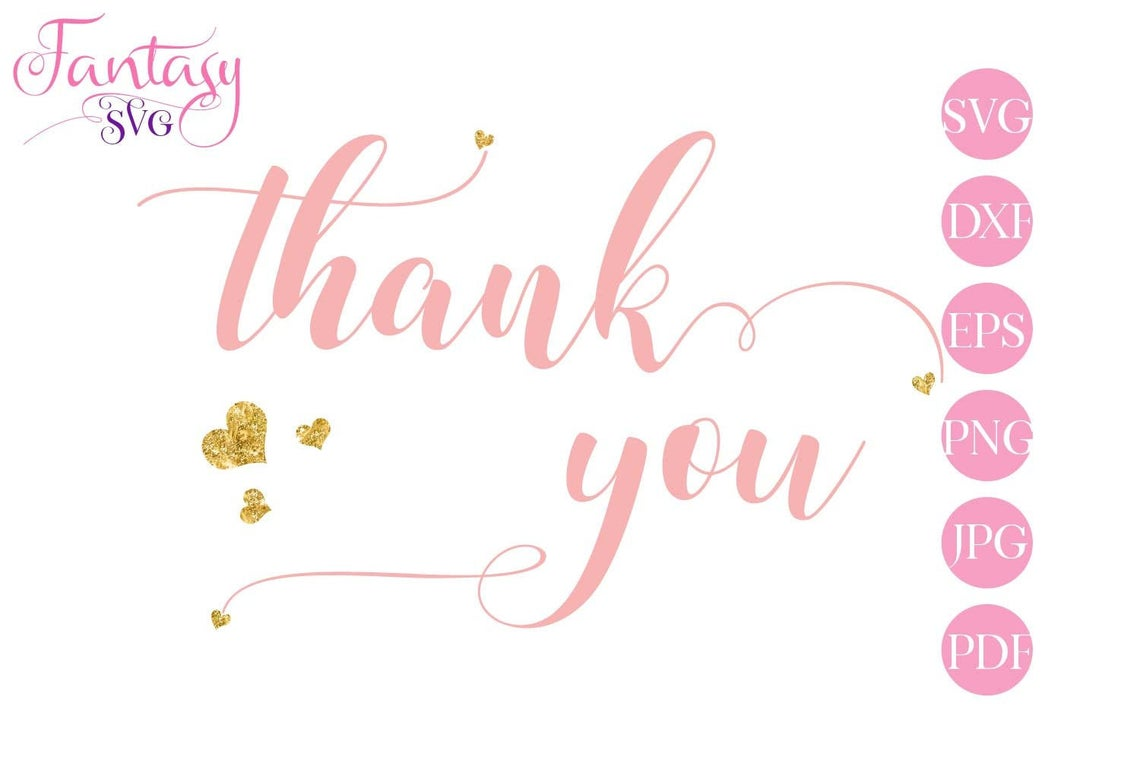 Download Free Thank You Cut Files Graphic By Fantasy Svg Creative Fabrica for Cricut Explore, Silhouette and other cutting machines.