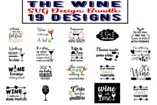 Print on Demand: The Wine Bundle Graphic Print Templates By Design_store
