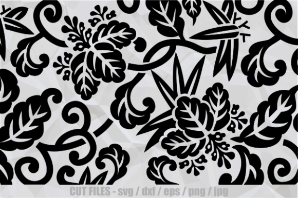 Print on Demand: Vintage Floral Japanese Cut File Pattern Graphic Crafts By Prawny