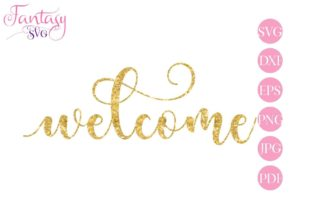 Download Free Welcome Cut Files Graphic By Fantasy Svg Creative Fabrica for Cricut Explore, Silhouette and other cutting machines.