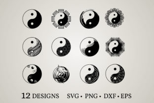 Download Free Yin Yang Bundle Svg Graphic By Euphoria Design Creative Fabrica for Cricut Explore, Silhouette and other cutting machines.