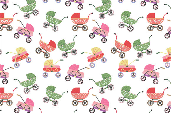 Download Free Baby Stroller Pattern Graphic By Curutdesign Creative Fabrica for Cricut Explore, Silhouette and other cutting machines.