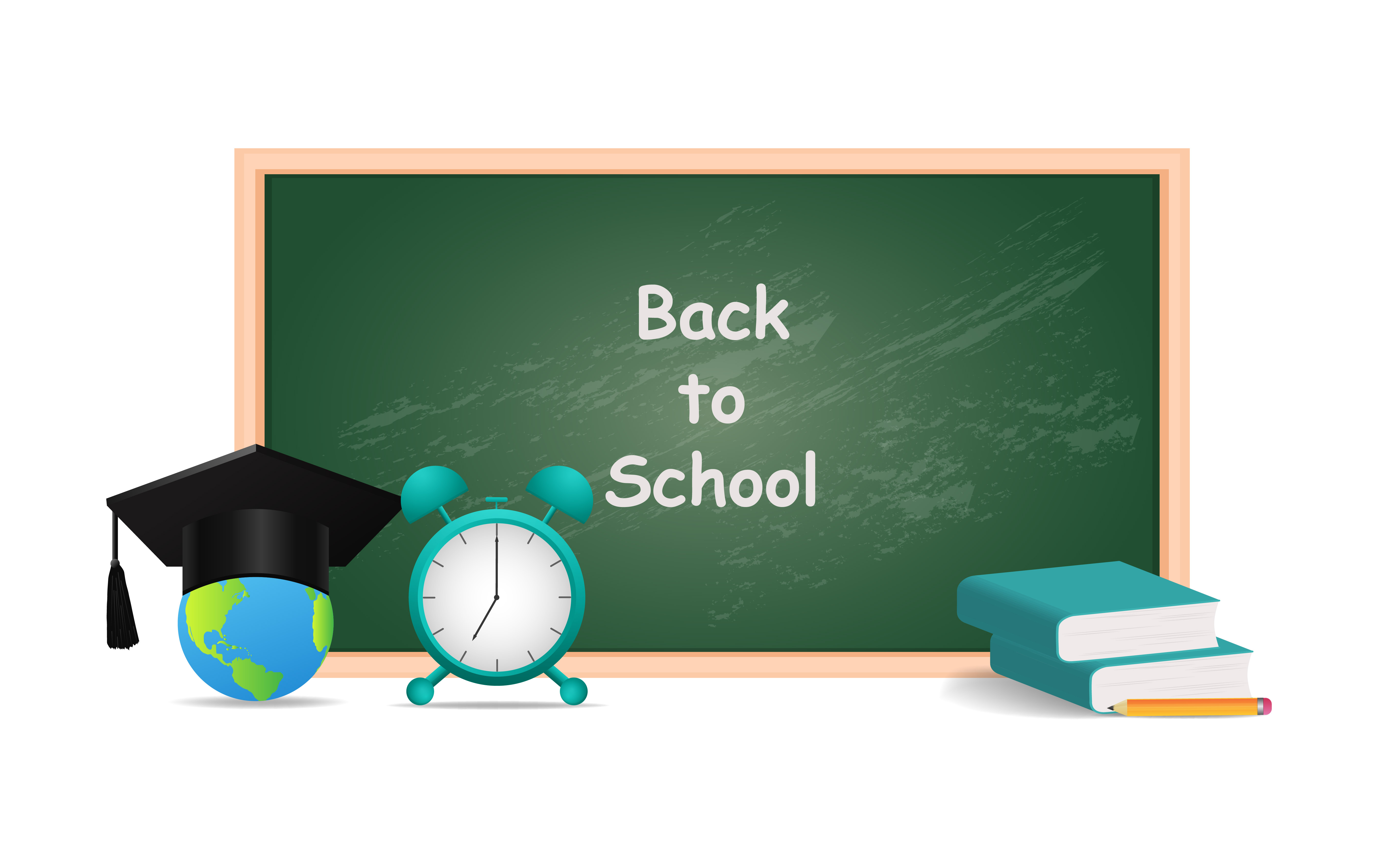 Download Free Back To School Vector Design Graphic By Ngabeivector Creative for Cricut Explore, Silhouette and other cutting machines.