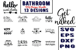 Download Free Bathroom Bundle Graphic By Design Store Creative Fabrica for Cricut Explore, Silhouette and other cutting machines.