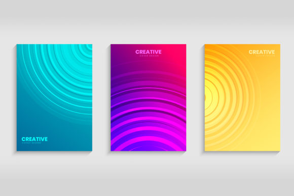 Minimal Cover with Gradient Background Graphic Backgrounds By medelwardi