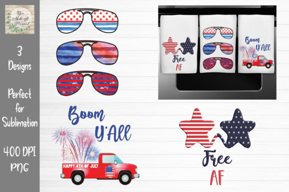Print on Demand: 4th of July Sublimation Bundle Graphic Print Templates By You Make It Personal