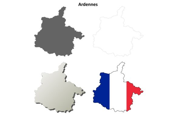 Download Free Ardennes Outline Map Set Graphic By Davidzydd Creative Fabrica for Cricut Explore, Silhouette and other cutting machines.